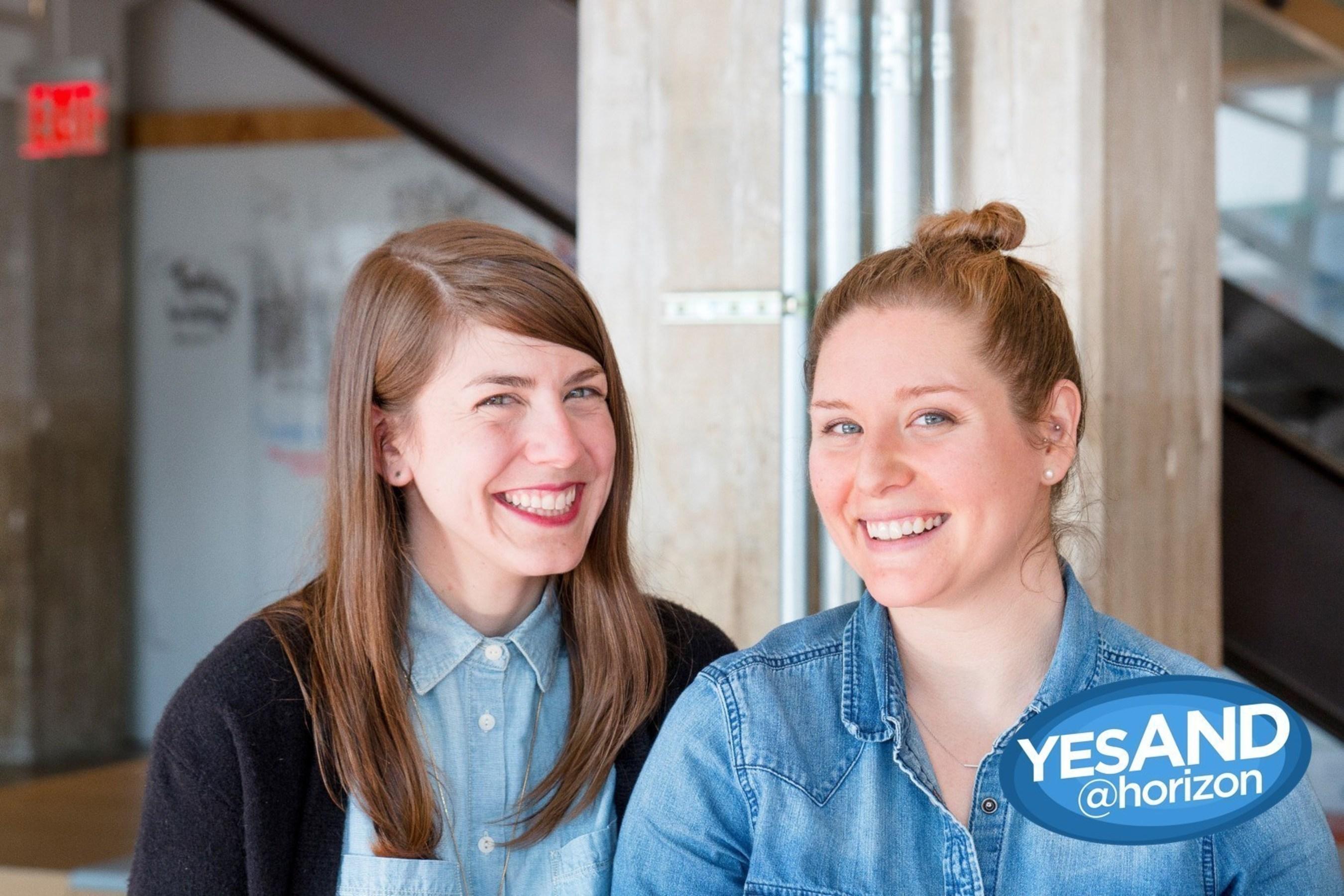 Chelsea Ramsey (left) and Ali Joseph (right), founders of YesAND@Horizon