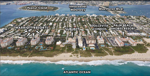 Oceanfront Hotel in Palm Beach Shores Hits the Auction Market