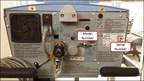 Figure 1: Rear view of AVEA ventilator.