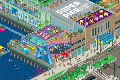 SuperPier at 15th Street in Hudson River Park (Credit: Pandiscio Co./QuickHoney).  (PRNewsFoto/Youngwoo & Associates)