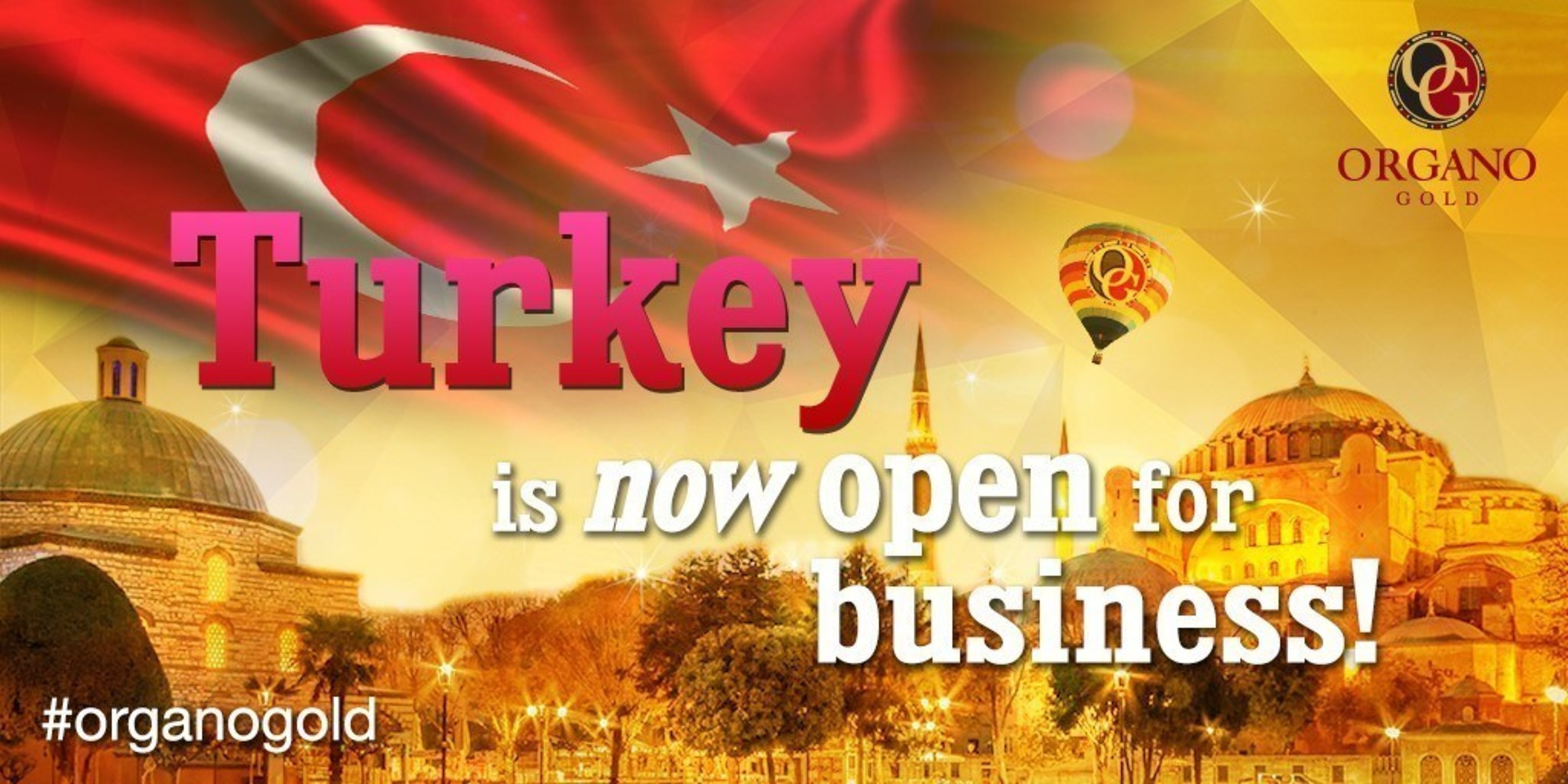 Turkey is now open for business