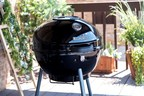 """Char-Broil's new Kettleman 22.5"""" Charcoal Grill ($129) is efficient, easy to use, and engineered to do more with less charcoal. The Char-Broil Kettleman is loaded with features that give backyard chefs better control over every aspect of the cooking process: a large damper on the lid and vents around the body offer better heat management, a no-fall-through cooking grate keeps flare-ups away and distributes heat evenly, a slide-in ash tray makes for easy clean-up. www.charbroil.com"""