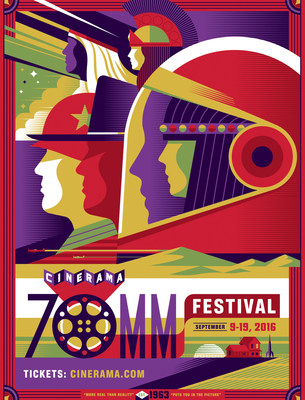 2016 Cinerama 70mm Film Festival Poster