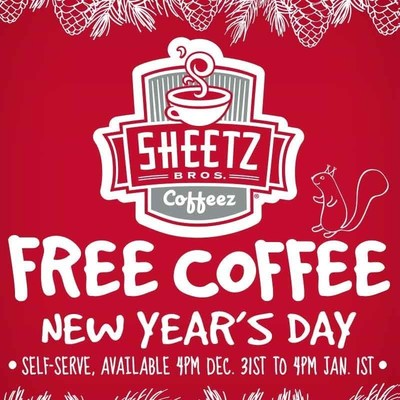 Free Coffee 4pm New Years Eve to 4pm New Years Day
