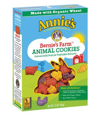 Bernie's Farm(R) Animal Cookies from Annie's - One of four new items in the Bernie's Farm line. (PRNewsFoto/Annie's)