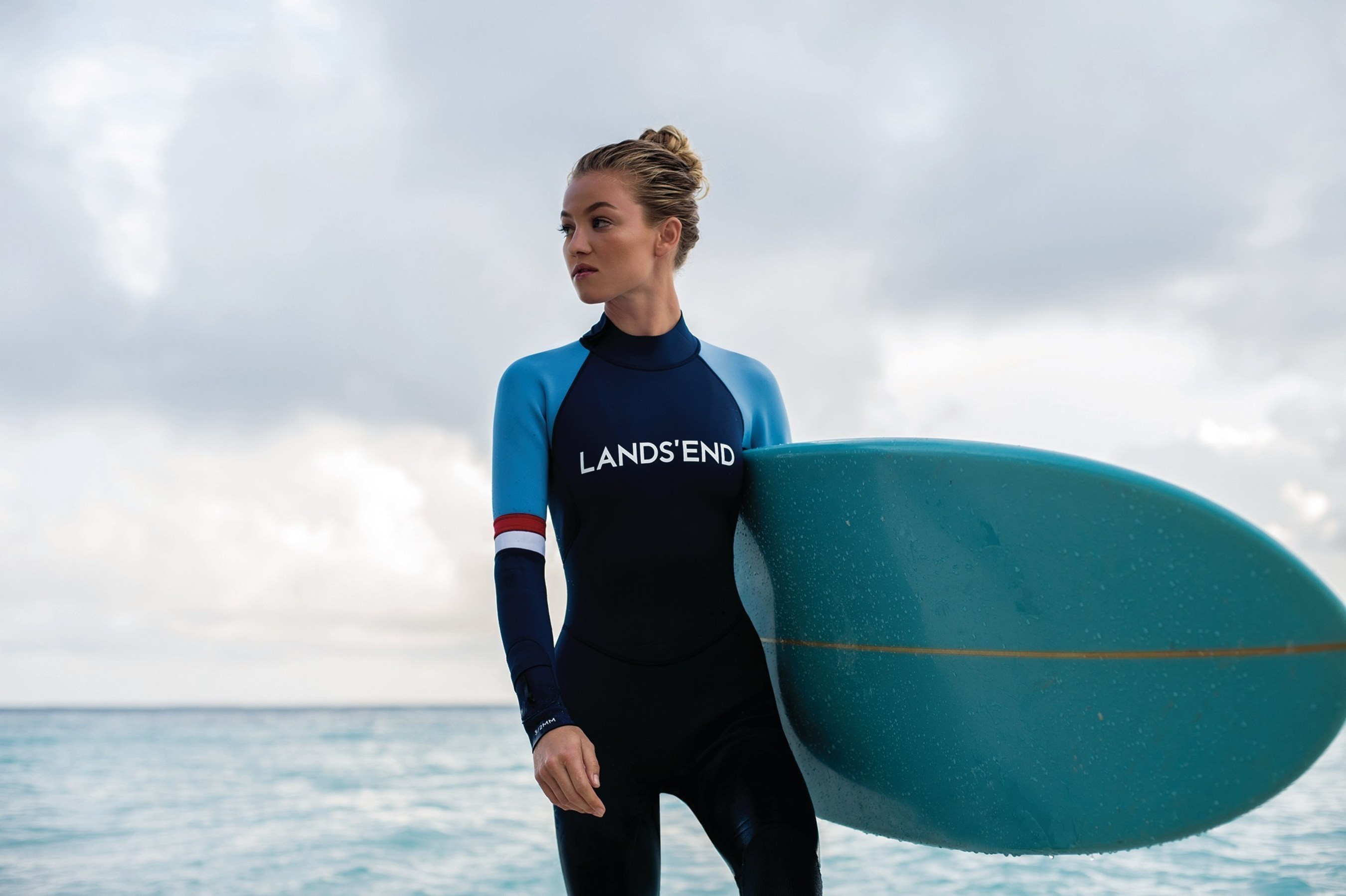 Introducing the Lands' End Surf collection, fully functional pieces from land to sea, high-performance to athleisure, available at www.landsendsport.com