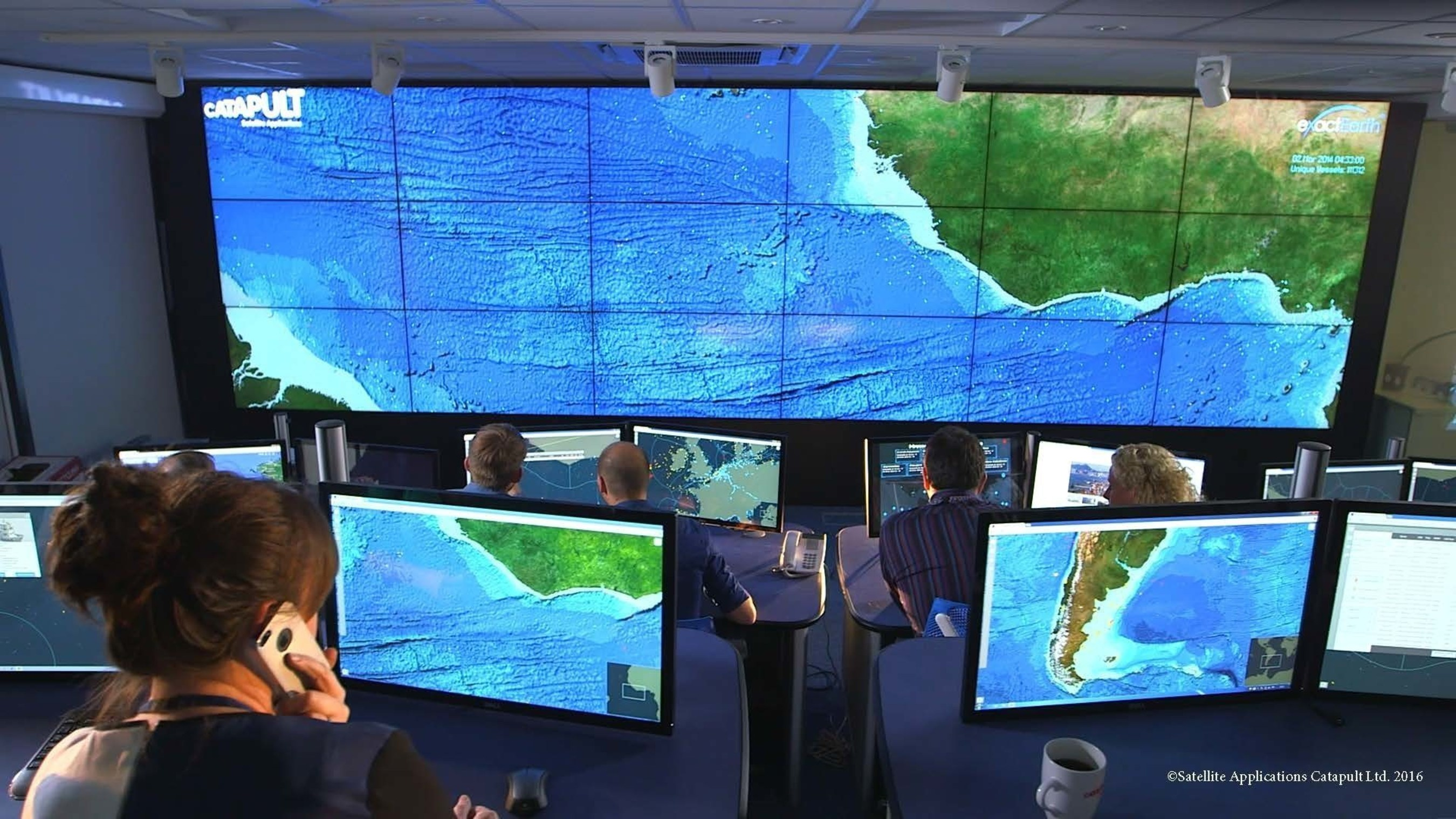Project Eyes on the Seas tracks vessels around the globe. Credit: (C) Satellite Applications Catapult Ltd. 2016