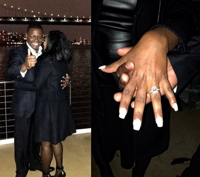 Marcus Gill and Dominique Cannon go public with their love in an intimate social media post flaunting her engagement sparkler.