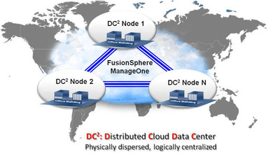 Huawei Introduces DC2 - Next Generation Data Center Architecture for More Agile and Efficient Data Centers in the Cloud Era. (PRNewsFoto/Huawei Enterprise) (PRNewsFoto/HUAWEI ENTERPRISE)