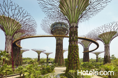 """The travel experts at Hotels.com(R) have identified some of the top """"green hotels"""" in cities like Singapore.  (PRNewsFoto/Hotels.com)"""