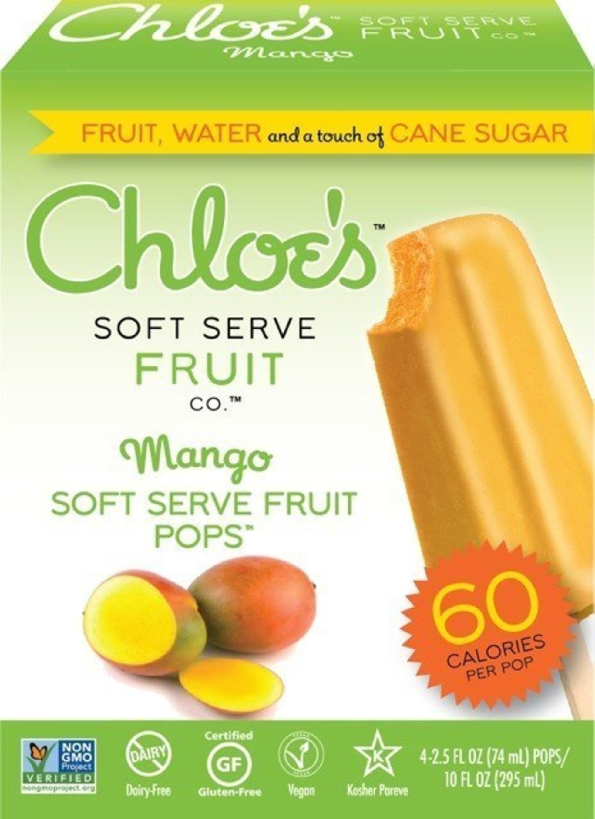 Chloe's Soft Serve Fruit Pops in Mango.