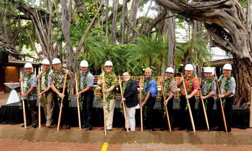 The new International Market Place ceremonial groundbreaking took place today in Waikiki, Hawaii.  Participants  ...