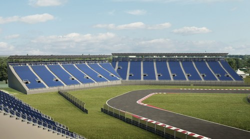 New Grandstands 10 & 11, images supplied by NUSSLI (PRNewsFoto/CIE) (PRNewsFoto/CIE)