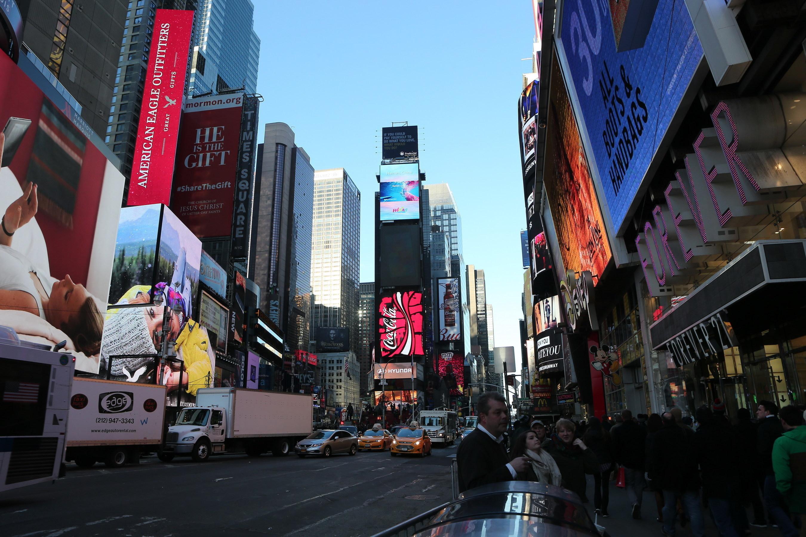 Рекламный ролик курорта Хайнань снова появился на экране Таймс-сквер