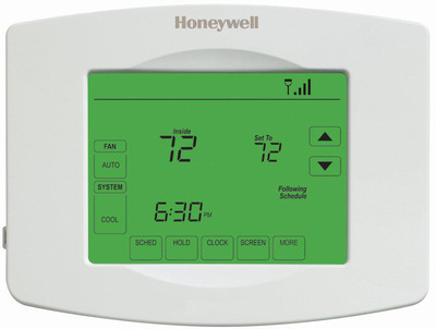 When used as directed, Honeywell's Wi-Fi 7-Day Programmable Thermostat can save the average homeowner up to $200 annually on heating and cooling.  (PRNewsFoto/Honeywell)