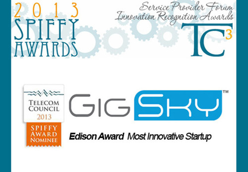 Silicon Valley's Telecom Council nominates GigSky to Most Innovative Startup 2013 SPIFFY Award.  (PRNewsFoto/Gigsky, Inc.)