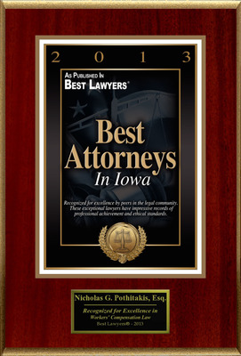 "Nicholas G. Pothitakis Selected For ""Best Attorneys In Iowa"".  (PRNewsFoto/American Registry)"