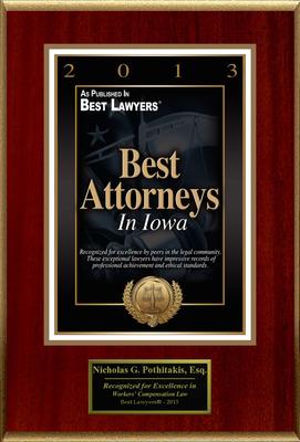 "Nicholas G. Pothitakis Selected For ""Best Attorneys In Iowa"".  (PRNewsFoto/American Registry)"