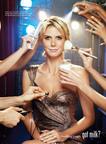 Got Glamour? Heidi Klum Dons Famous White Mustache In New Got Milk? Ad