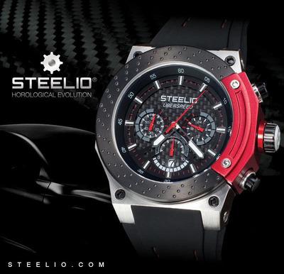 STEELIO(R) UBERSPEED(TM) Retrograde Chronograph Watch.  (PRNewsFoto/Steelio, Inc.)