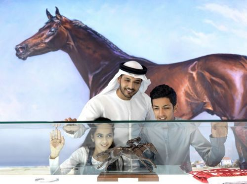 An exhibition which explores the shared development story of Dubai and its horseracing heritage, driven by the pioneering spirit of His Highness Sheikh Mohammed bin Rashid Al Maktoum, Vice-President and Prime Minister of the UAE and Ruler of Dubai, has opened to the public at Meydan Racecourse. (PRNewsFoto/Falcon and Associates)