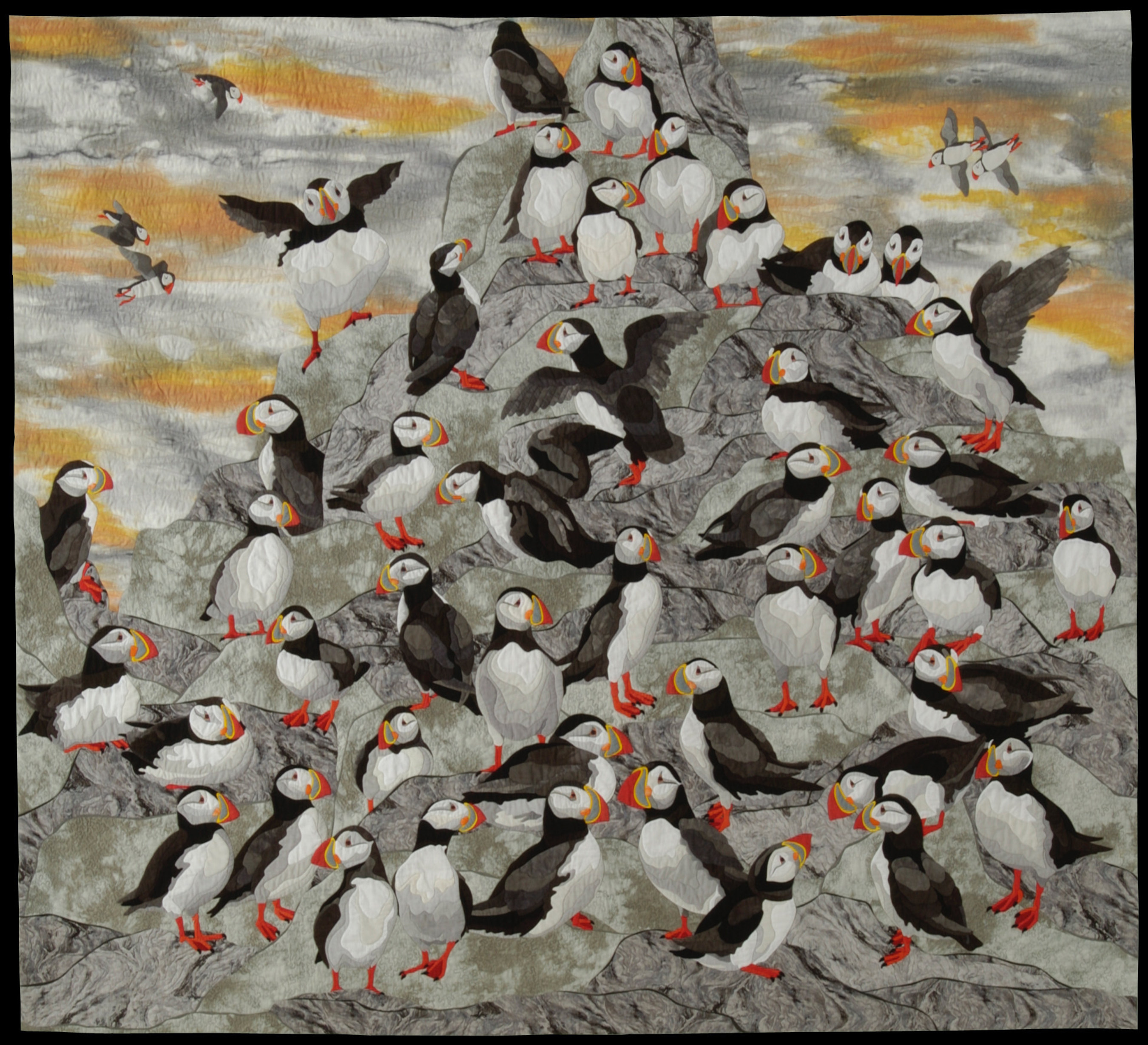 Puffins by artist Shirley Kelly