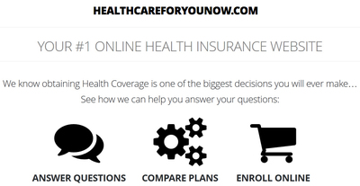 Our Website allows you to find out information, enroll and compare plans.  (PRNewsFoto/HealthcareForYouNow.com)