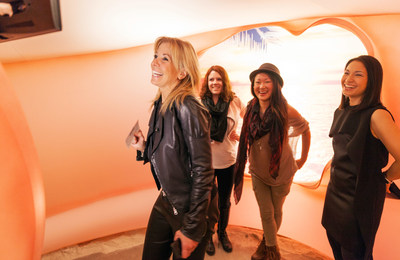 Celebrity fashion designer Pamela Dennis, left, Erin Cassidy, second from left, Cassandra Dotzel, center and New York-based designer and architect Stephanie Goto capture a relaxed moment at the Glade(R) Boutique Grand Opening Monday, Nov. 17, 2014 in New York. The Glade(R) Boutique is open from Tuesday Nov. 18 to Tuesday Dec. 23, 2014. Photo by Glade(R)