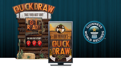 QUICKDRAW, one of the new experiential interactive media prototypes created by GoConvergence for Guinness World Records Attractions.