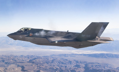 """F-35 Integrated Test Force, Edwards AFB, Calif. test pilot Maj Charles """"Flak"""" Trickey fired the GAU-22/A 25mm gun from F-35A aircraft AF-2 in the first aerial gun test operating on the China Lake, California, test range, Oct. 30. (Credit: Chad Bellay, Edwards F-35 Integrated Test Force)"""