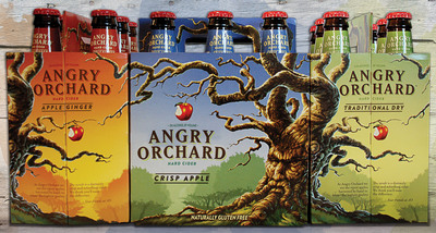 Angry Orchard Hard Cider is available in three distinct styles of crisp and refreshing hard cider -- Crisp Apple, Apple Ginger and Traditional Dry -- delivering a variety of flavors that are sure to offer something for any palate. Now available nationwide.  (PRNewsFoto/Angry Orchard Cider Company)