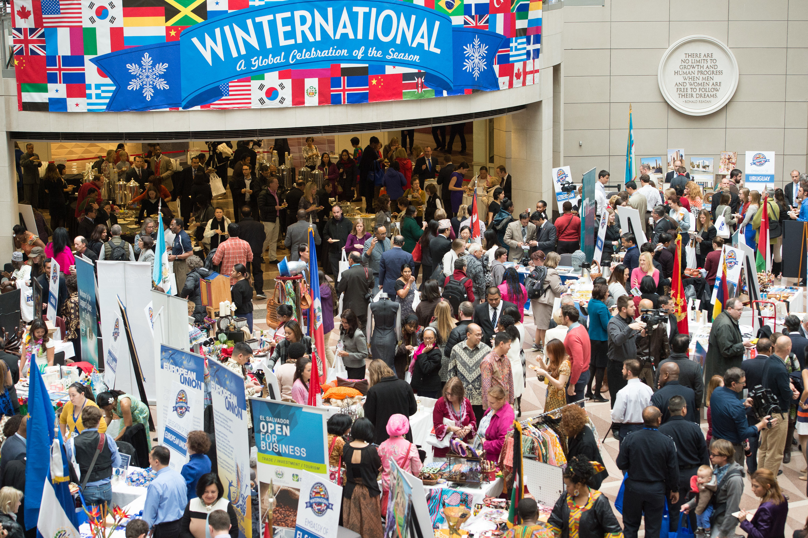 2500 Visitors Participate in Winternational, the 4th Annual Embassy Showcase featuring 34 embassies, at the Ronald Reagan Building and International Trade Center.