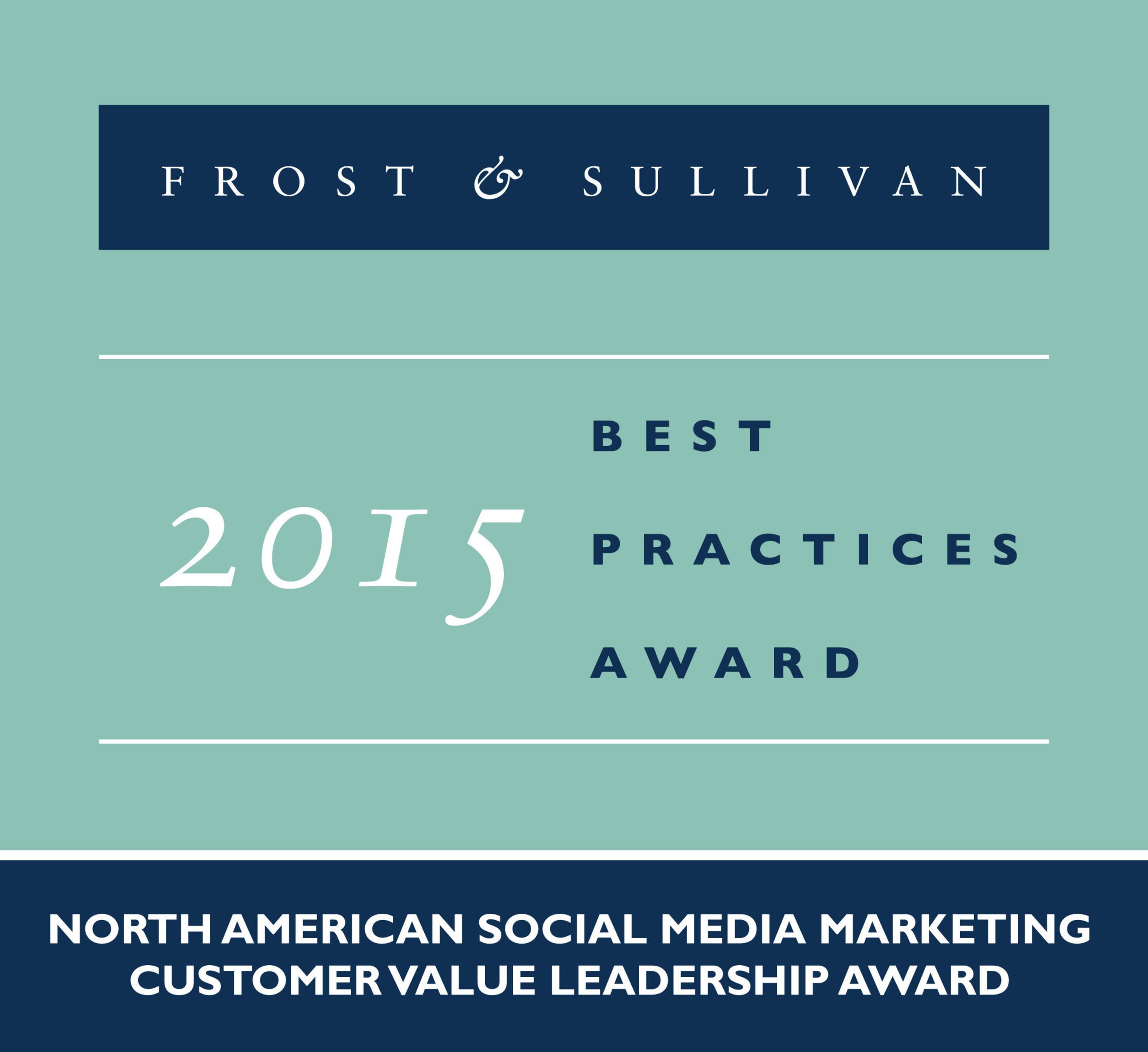 Frost & Sullivan Names IZEA Recipient of 2015 North American Social Media Marketing Customer Value