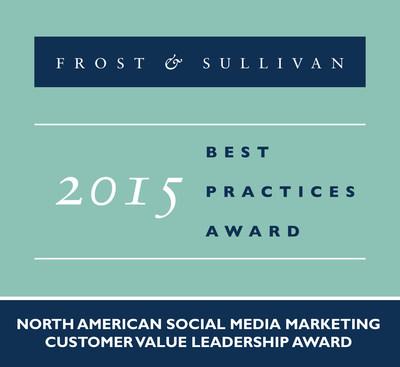 IZEA Receives 2015 North American Social Media Marketing Customer Value Leadership Award (PRNewsFoto/Frost & Sullivan)