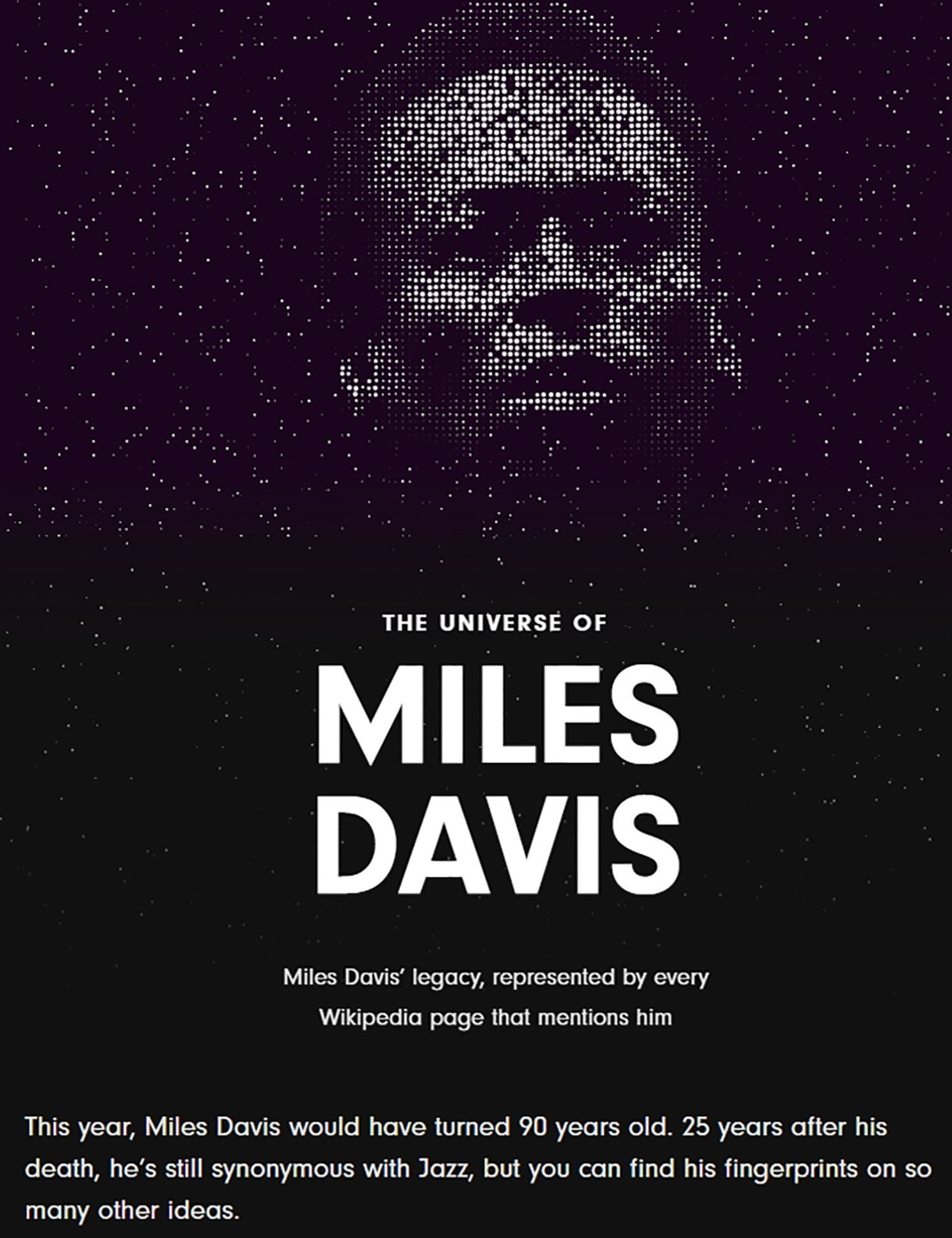 Miles Davis: The Universe of Cool. Visualized.