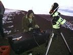 Moon Express software engineer Jake Forsberg readies the International Lunar Observatory precursor (ILO-X) for a global demonstration from the summit of Mauna Kea in Hawaii.  (PRNewsFoto/Moon Express)
