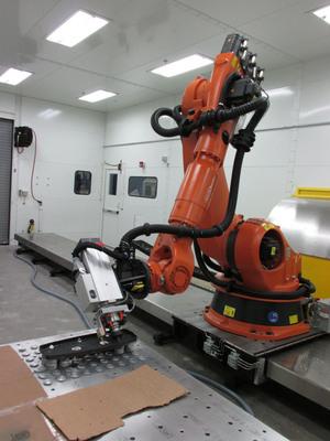 Cirrus Aircraft's Robotic Trim and Drill Facility.  (PRNewsFoto/Cirrus Aircraft)