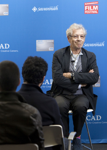 Sir Ian McKellen conducts a Master Class at the Savannah College of Art and Design during the Savannah Film ...