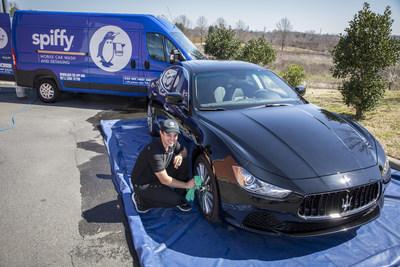Spiffy's convenient mobile car wash