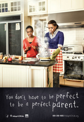 You don't have to be perfect, to be a perfect parent. Visit AdoptUSKids.org (PRNewsFoto/Ad Council)