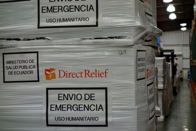 Humanitarian medical aid from Direct Relief staged for delivery to Ecuador in response to the earthquake on April 16, 2016. Learn more at directrelief.org.