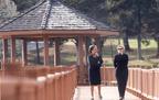 Marian Wright Edelman and Hillary Rodham Clinton at the CDF Haley Farm.  (PRNewsFoto/Children's Defense Fund)