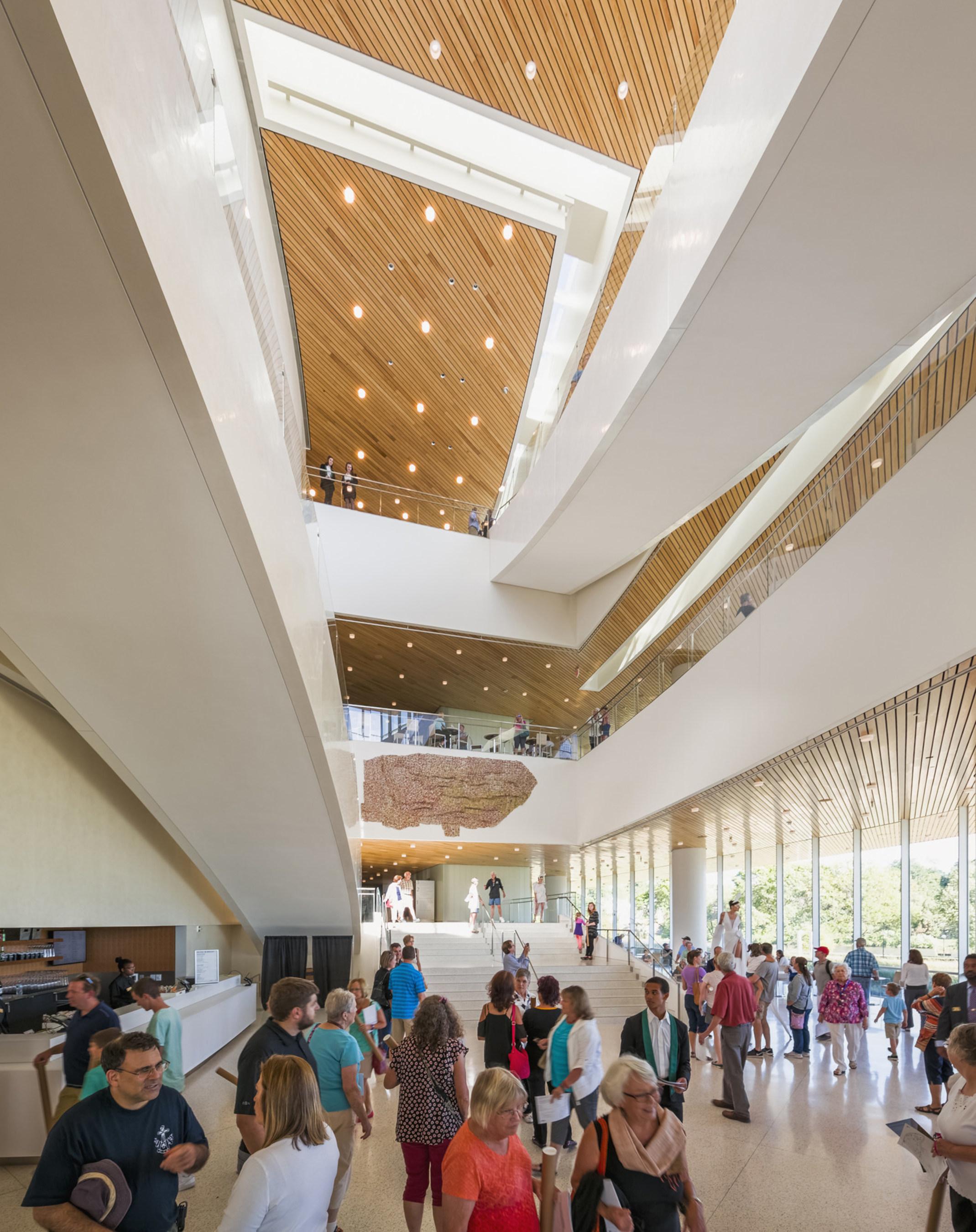 Lobby, Hancher Auditorium, University of Iowa, photo by Jeff Goldberg/Esto