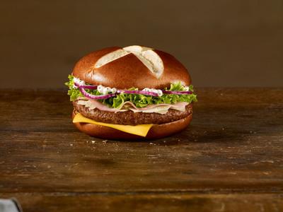 """Pretzelnator"": One of Germany's Favorite Crowdsourcing Burgers, 2012.   (PRNewsFoto/McDonald's Germany)"