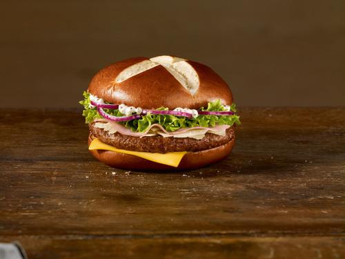 """Pretzelnator"": One of Germany's Favorite Crowdsourcing Burgers, 2012.   (PRNewsFoto/McDonald's  ..."