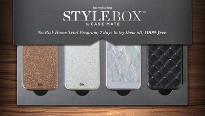Case-Mate Introduces StyleBox(TM) -- A Risk-Free Trial Program for Smartphone Cases. www.case-mate.com/stylebox.  (PRNewsFoto/Case-Mate)