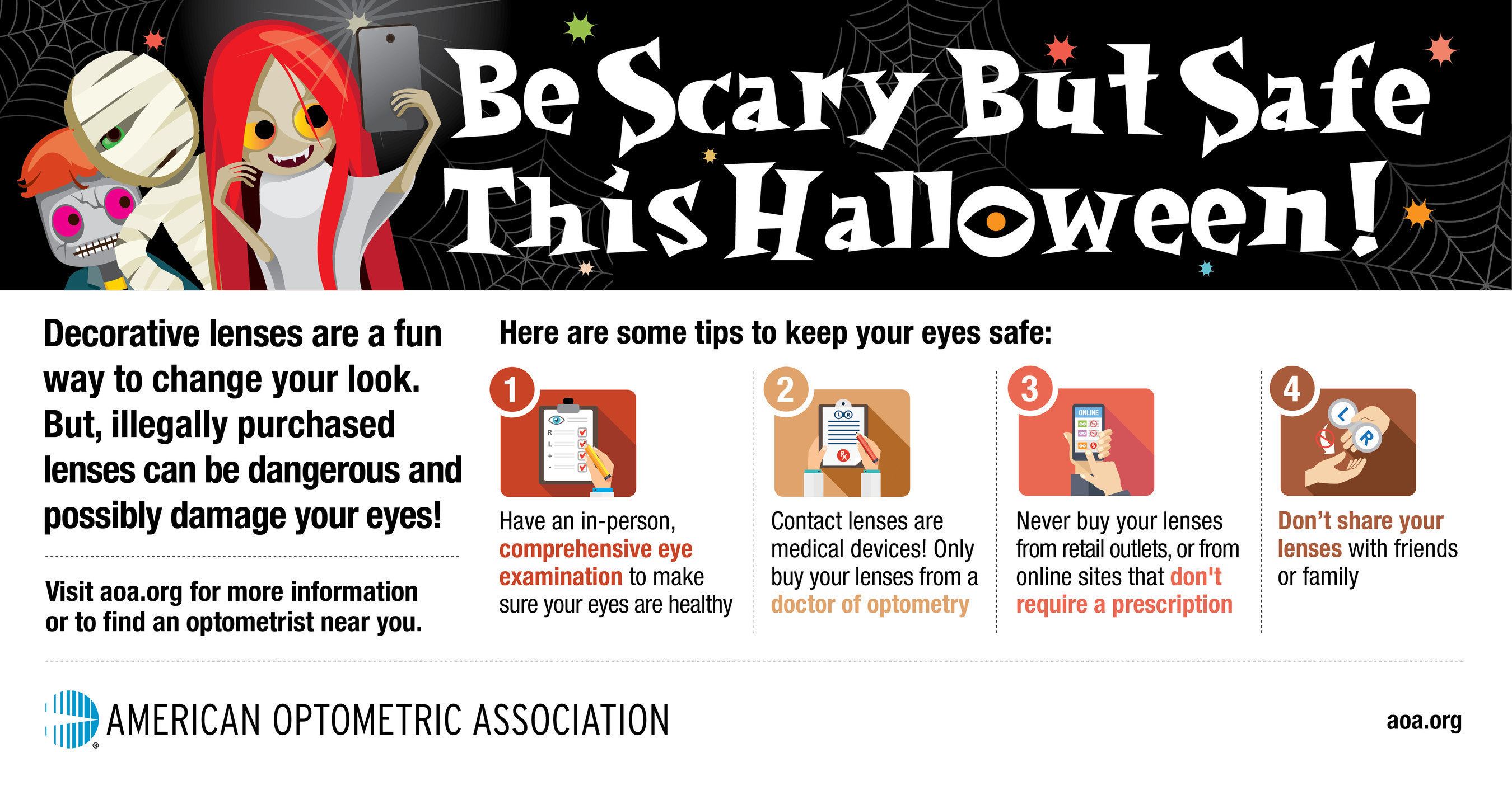 Costume Contact Lens Warning AOA