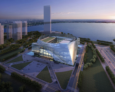 tvsdesign Breaks Ground on Ningxia Conference Center in China, New Home of China-Arab States Economic and Trade Forum.  (PRNewsFoto/tvsdesign)
