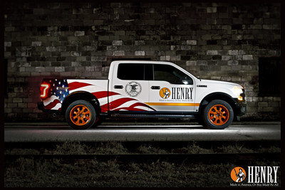 Henry Repeating Arms' donation of a one-of-a-kind 2015 Ford F-150 Lariat 4x4 SuperCrew custom wrapped by SkinzWraps of Dallas, TX is available for auction on Gunbroker.com. Bidding is live at https://bit.ly/HenryFordTruck and will conclude on August 31, 2015 at 4:00PM EDT, just in time for the lucky winner to enjoy the truck during hunting season.