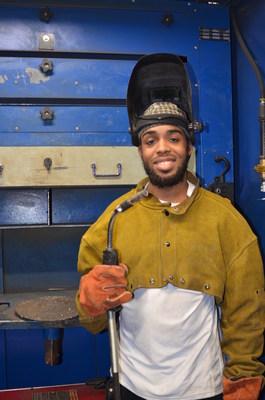 Derrek Ballard of Thomasville will receive his welding degree Saturday at DCCC.